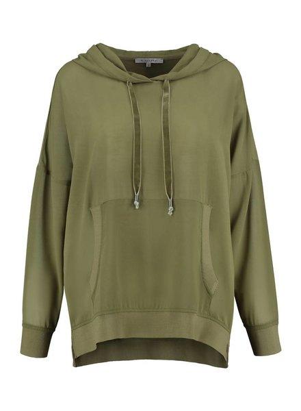 SYLVER Light Slub Sweater - Army