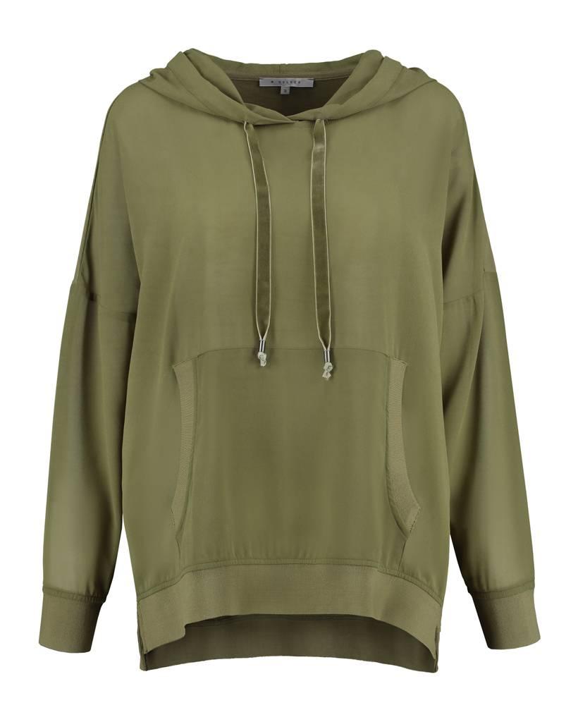 SYLVER Light Slub Sweater - Legergroen