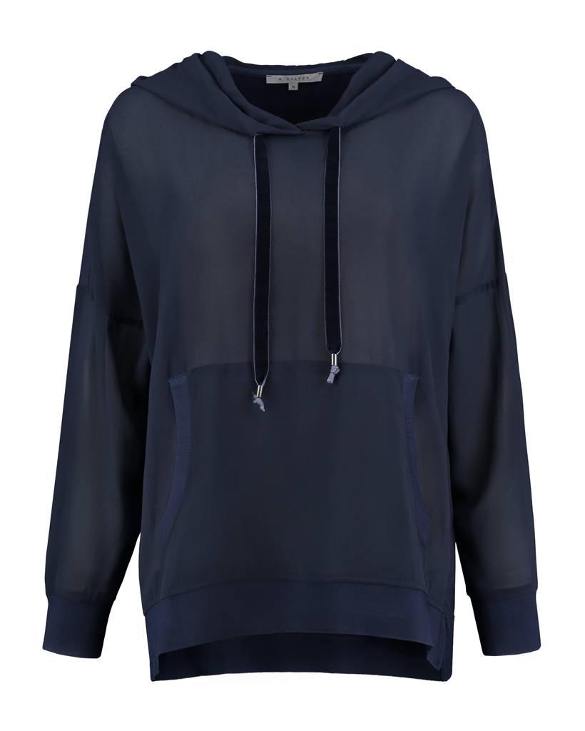 SYLVER Light Slub Sweater - Dark Blue