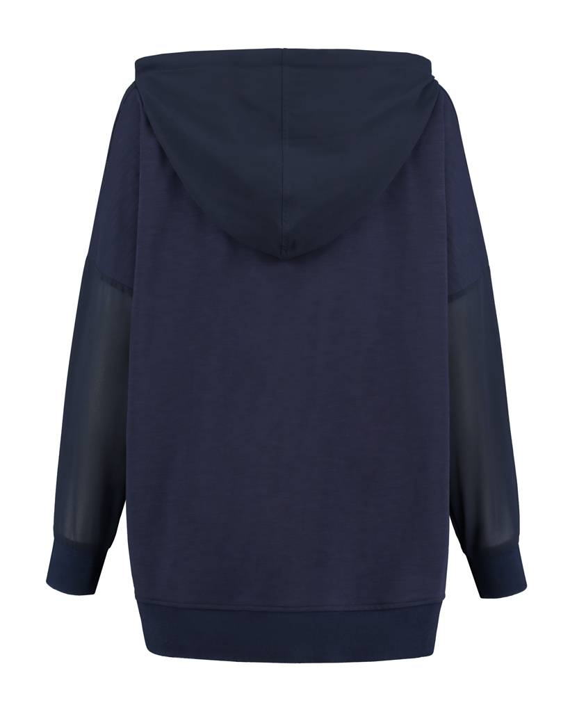 SYLVER Light Slub Sweater - Donkerblauw