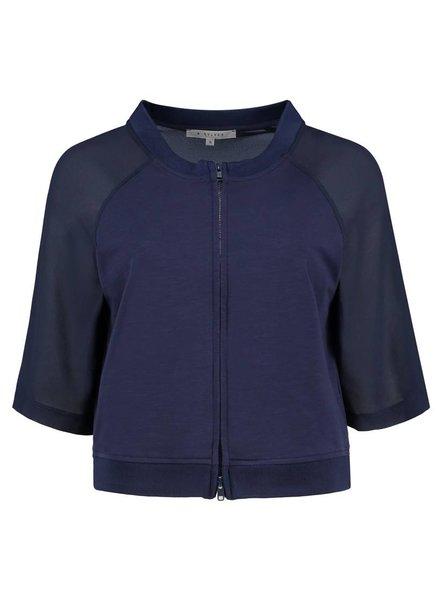 SYLVER Light Slub Jacket - Donkerblauw