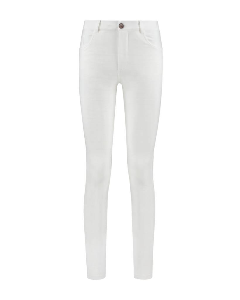 SYLVER Light Slub Trousers 5-pocket - Wit
