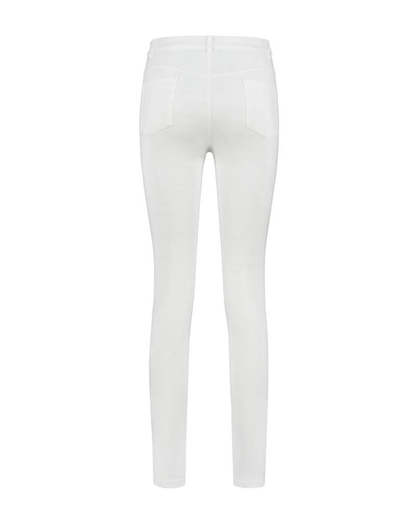 SYLVER Light Slub Trousers 5-pocket - White