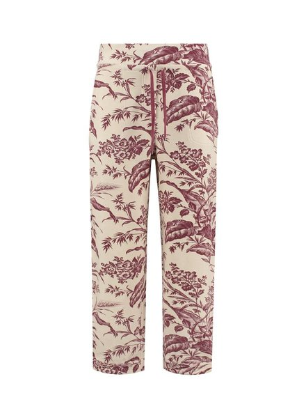SYLVER Flower Sweat Trousers - Donkerrood