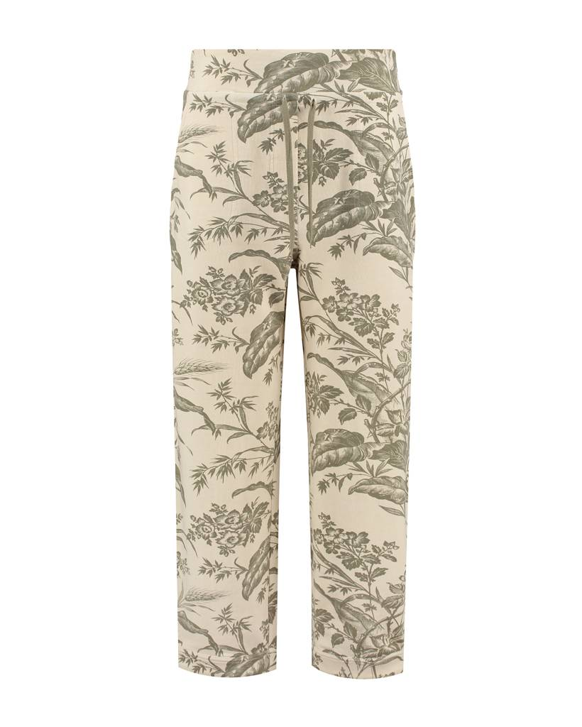 SYLVER Flower Sweat Trousers - Legergroen
