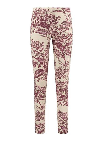 SYLVER Flower Sweat Pants - Donkerrood