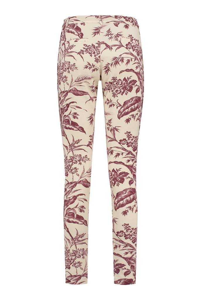 SYLVER Flower Sweat Pants - Donkerrood
