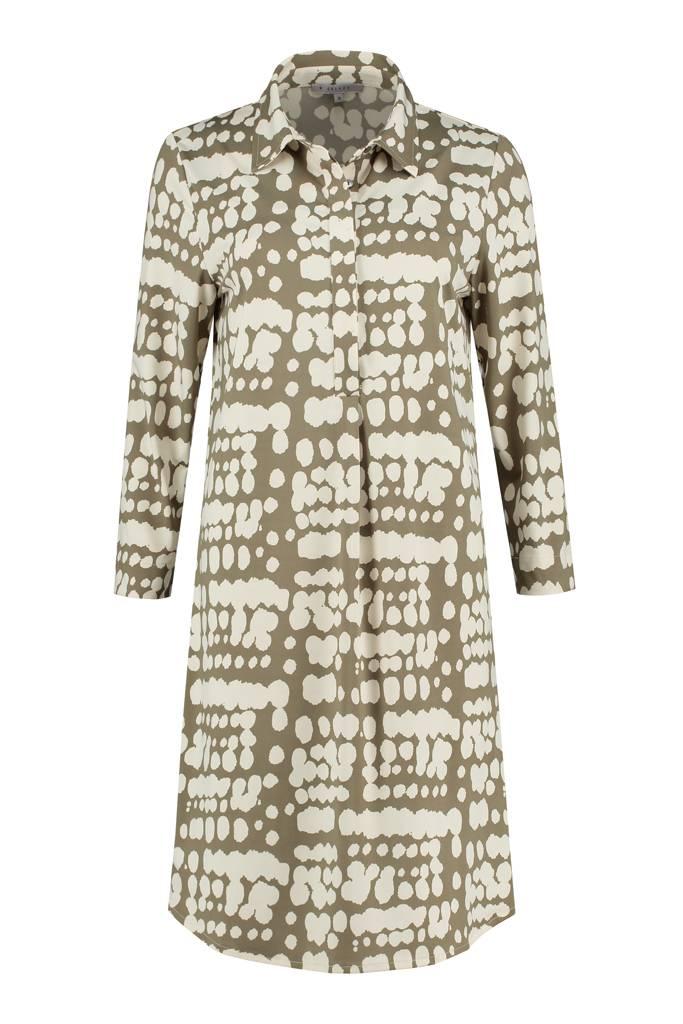 SYLVER Silky Animal Dress - Legergroen