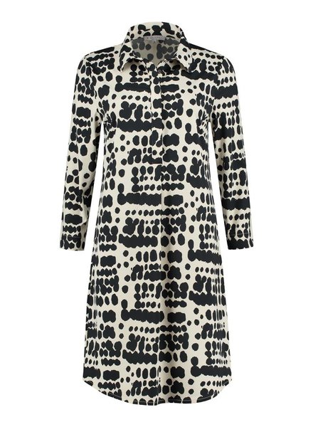 SYLVER Silky Animal Dress - Zwart