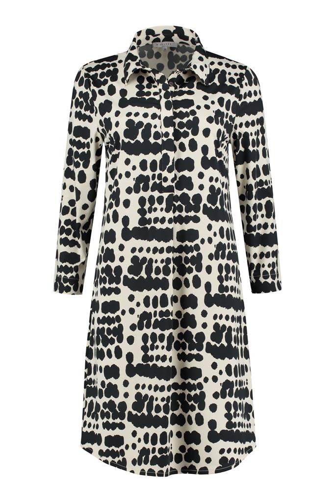 SYLVER Silky Animal Dress - Black
