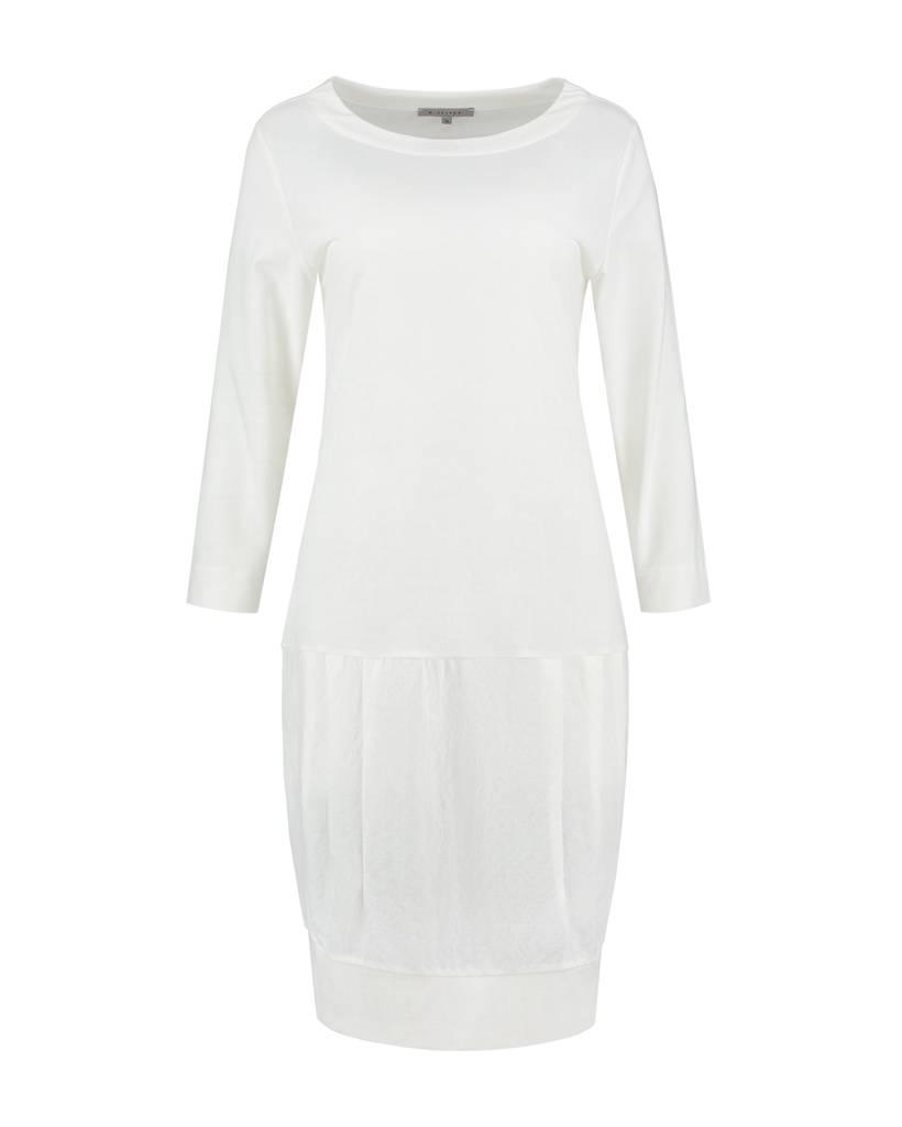 SYLVER Stretch Crêpe Dress - Gebroken wit