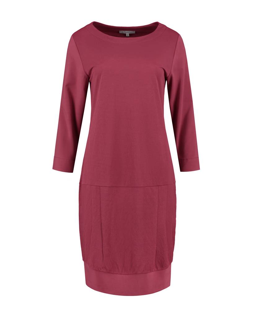 SYLVER Stretch Crêpe Dress - Donkerrood