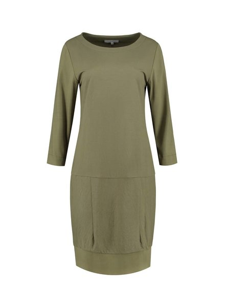 SYLVER Stretch Crêpe Dress - Legergroen
