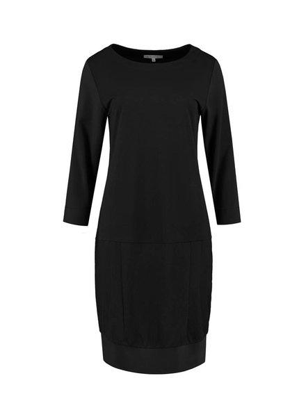 SYLVER Stretch Crêpe Dress - Zwart