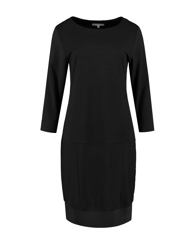 SYLVER Stretch Crêpe Dress - Zwart