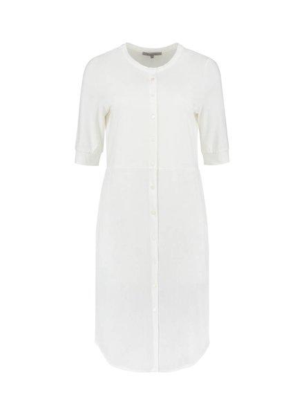 SYLVER Stretch Crêpe Blouse Dress - Off white