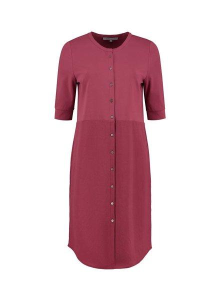 SYLVER Stretch Crêpe Blouse Dress - Warm Red