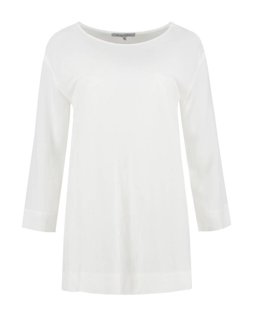 SYLVER Stretch Crêpe Shirt - Off white