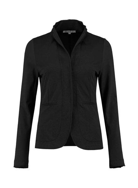 SYLVER Stretch Crêpe Jacket - Zwart