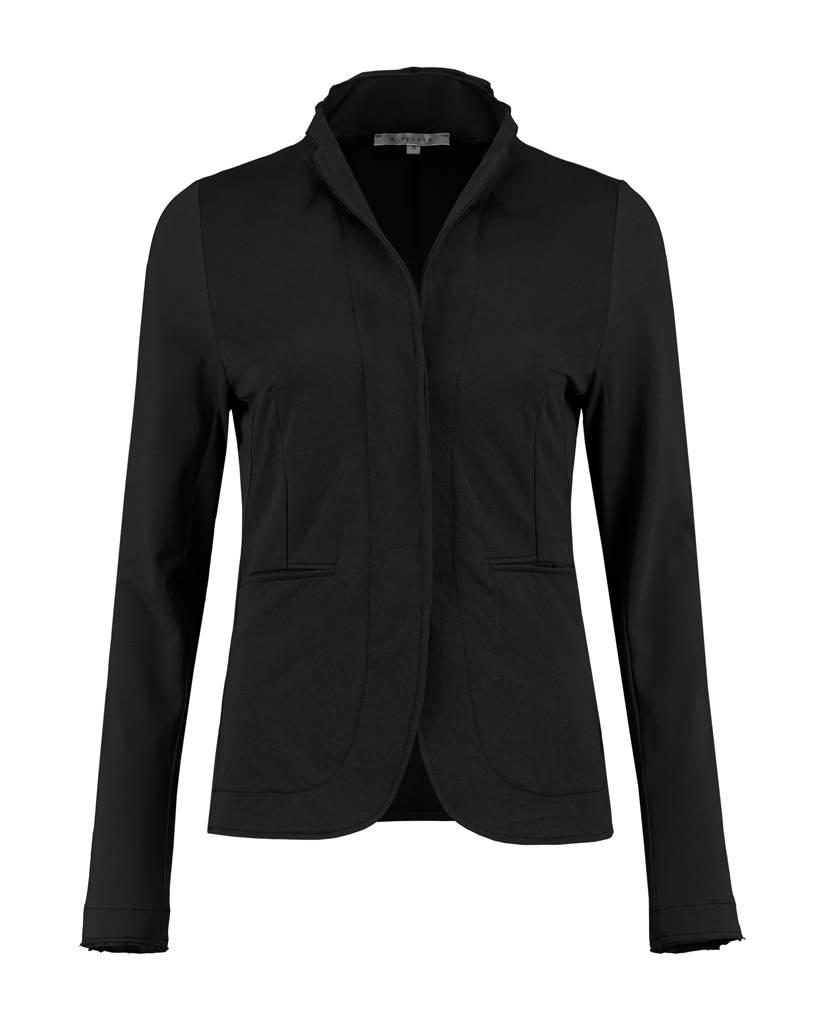 SYLVER Stretch Crêpe Jacket - Black