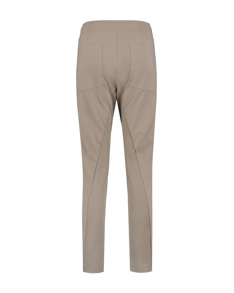 SYLVER Stretch Crêpe Trousers Small - Zand