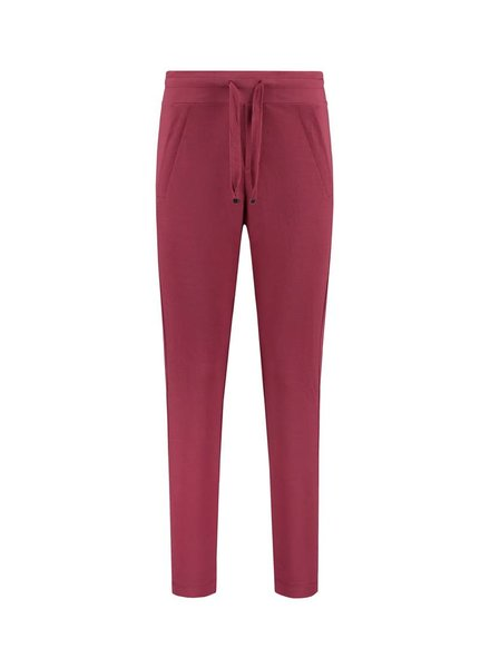 SYLVER Stretch Crêpe Trousers Small - Warm Red