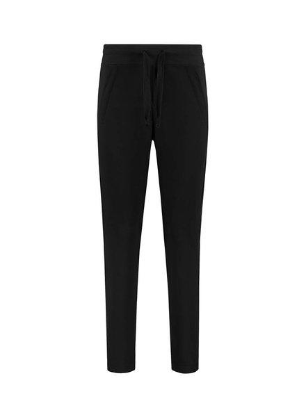 SYLVER Stretch Crêpe Trousers Small - Black