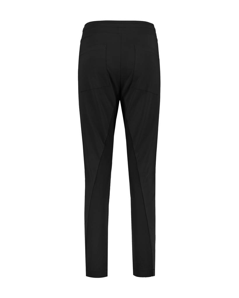 SYLVER Stretch Crêpe Trousers Small - Zwart