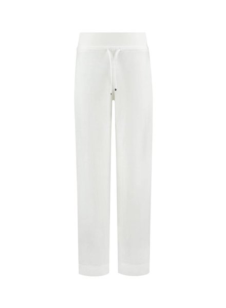 SYLVER Stretch Crêpe Trousers Piping - Off white