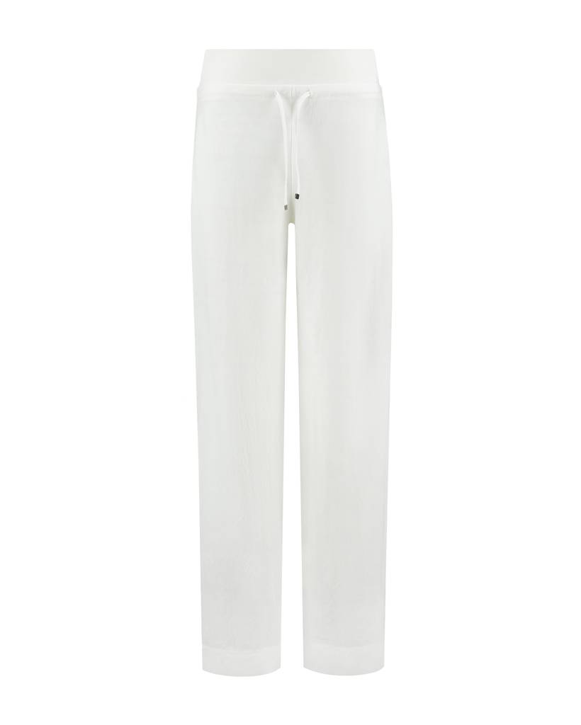 SYLVER Stretch Crêpe Trousers Piping - Gebroken wit