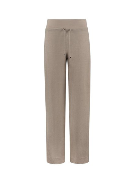SYLVER Stretch Crêpe Trousers Piping - Sand