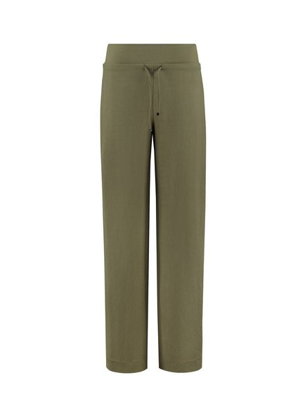 SYLVER Stretch Crêpe Trousers Piping - Army