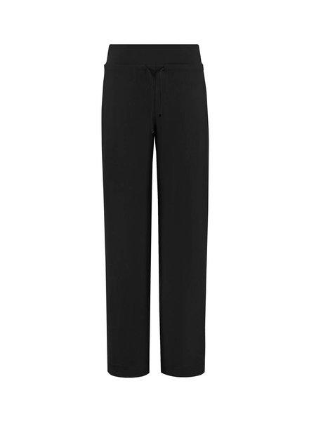 SYLVER Stretch Crêpe Trousers Piping - Zwart