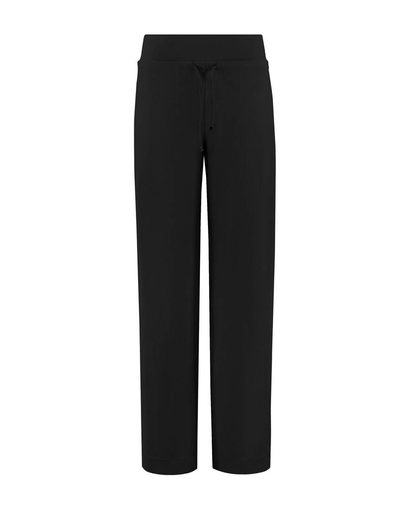 SYLVER Stretch Crêpe Trousers Piping - Zwart