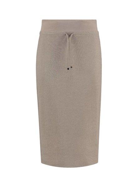 SYLVER Stretch Crêpe Skirt - Sand