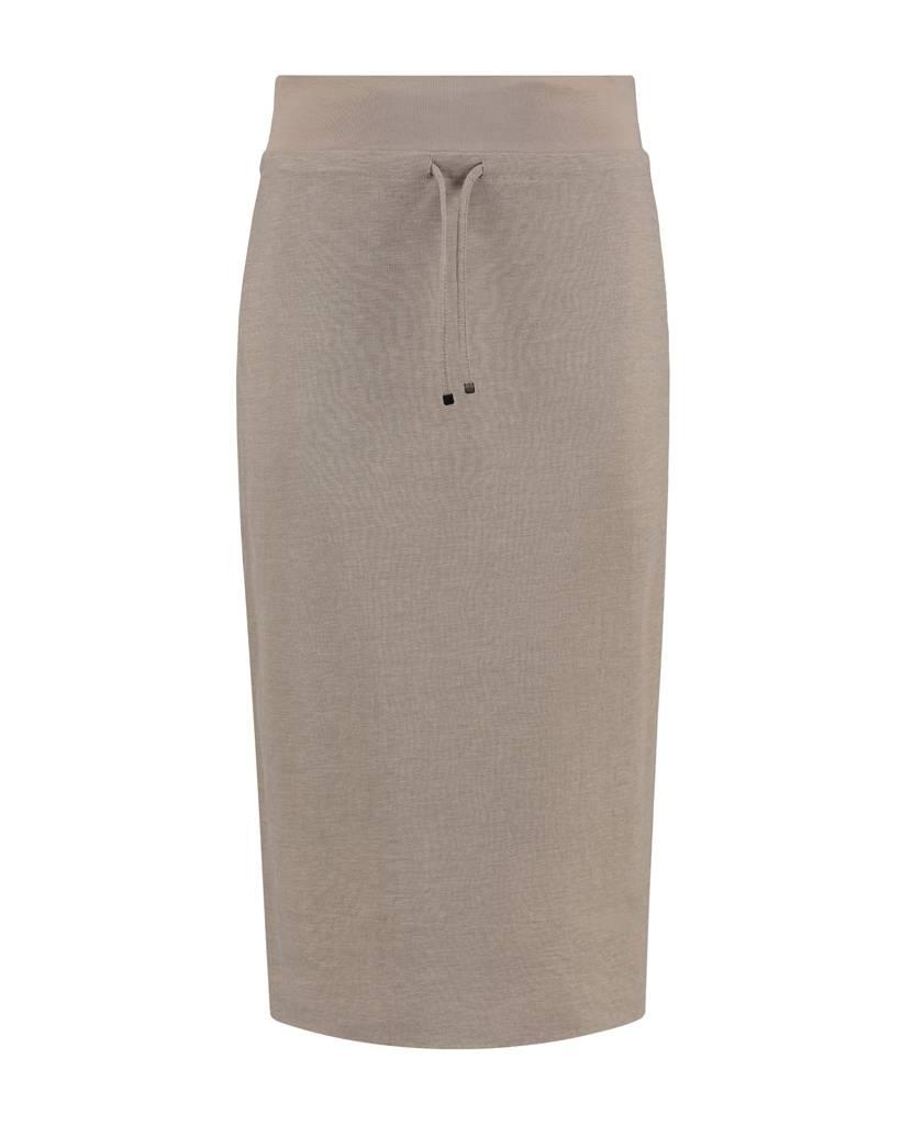 SYLVER Stretch Crêpe Skirt - Zand