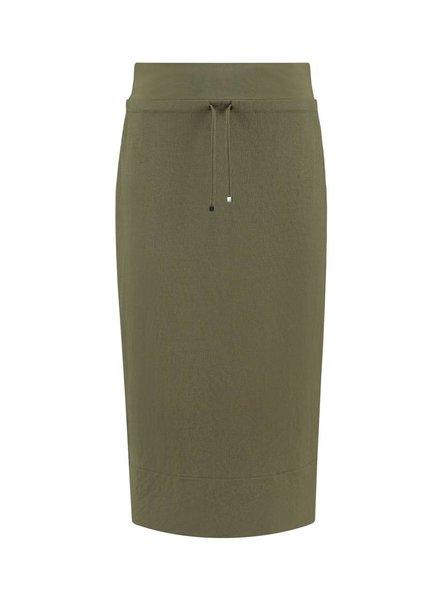 SYLVER Stretch Crêpe Skirt - Army