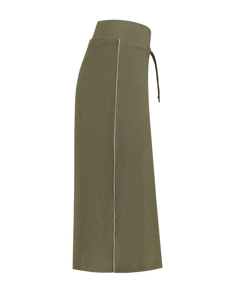 SYLVER Stretch Crêpe Skirt - Legergroen