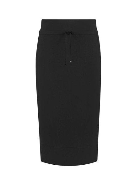 SYLVER Stretch Crêpe Skirt - Black