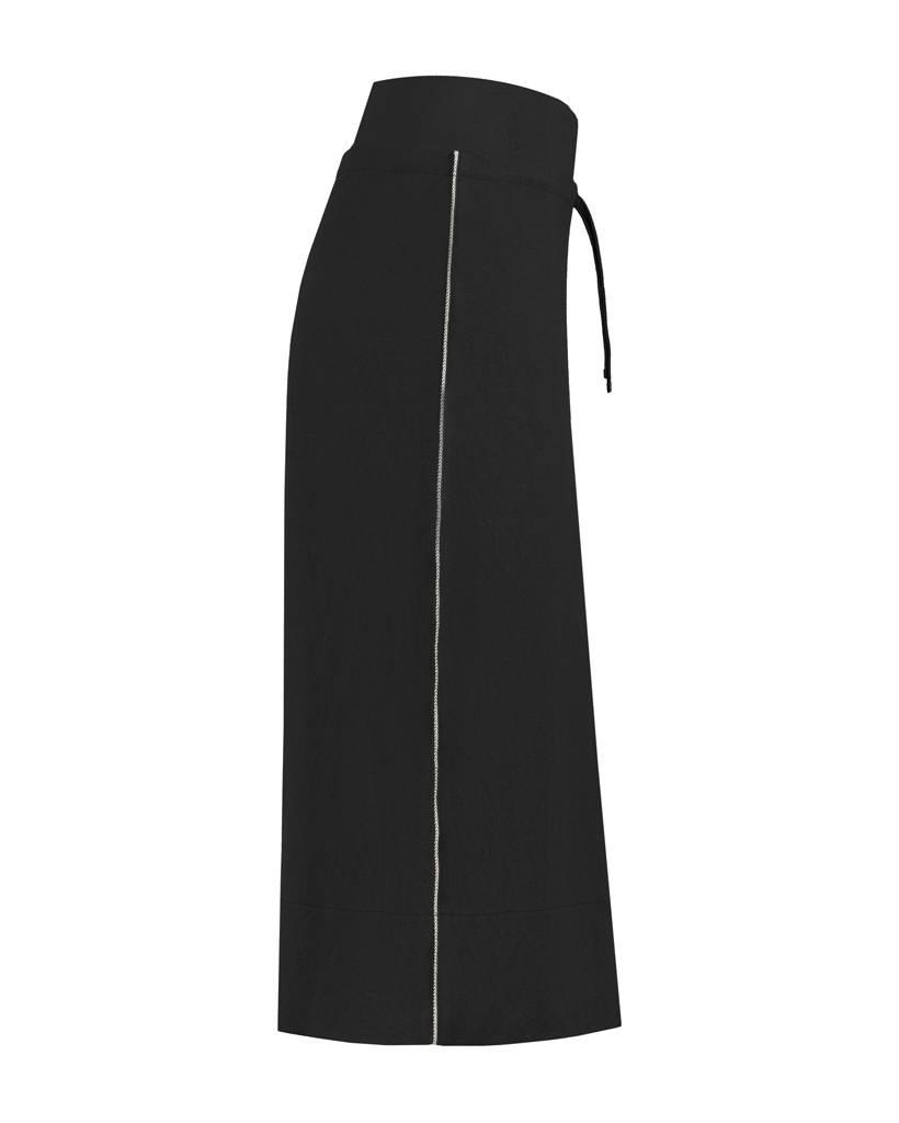 SYLVER Stretch Crêpe Skirt - Zwart
