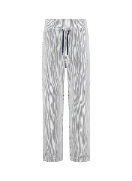 SYLVER Stretch Stripe Trousers - White
