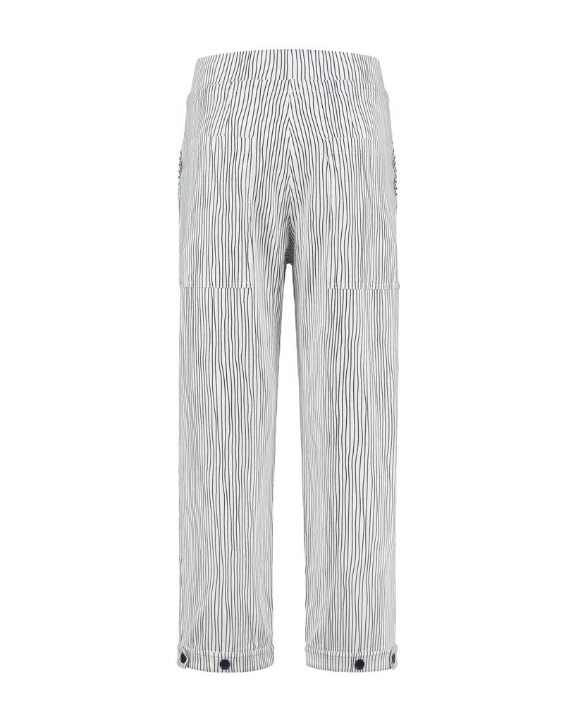 SYLVER Stretch Stripe Trousers - Wit