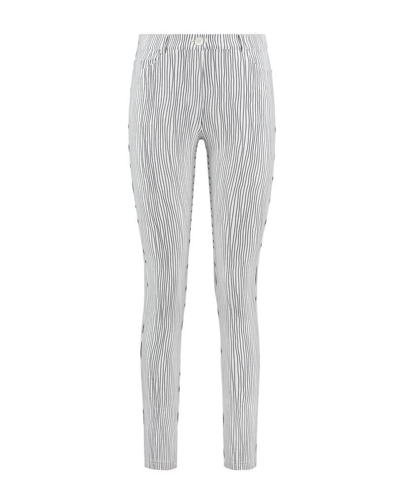 SYLVER Stretch Stripe 5-pocket - Wit