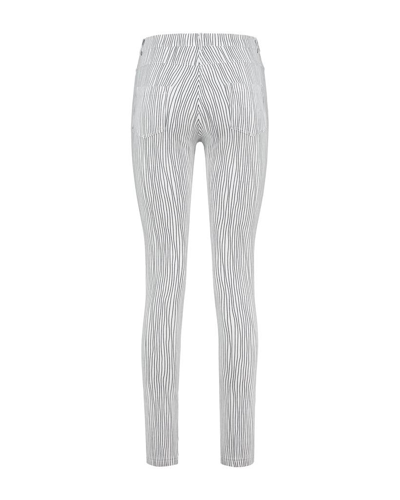 SYLVER Stretch Stripe 5-pocket - White