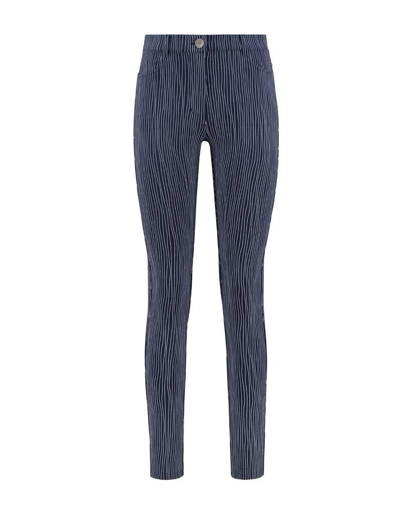 SYLVER Stretch Stripe 5-pocket - Donkerblauw