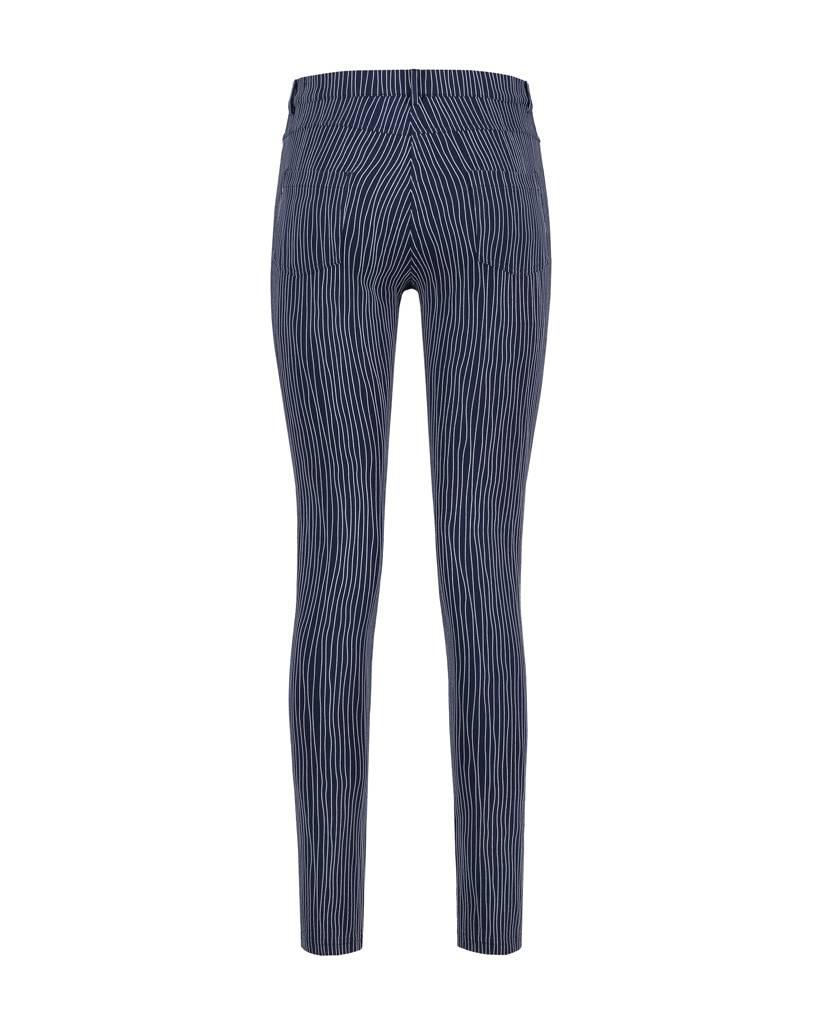 SYLVER Stretch Stripe 5-pocket - Dark Blue