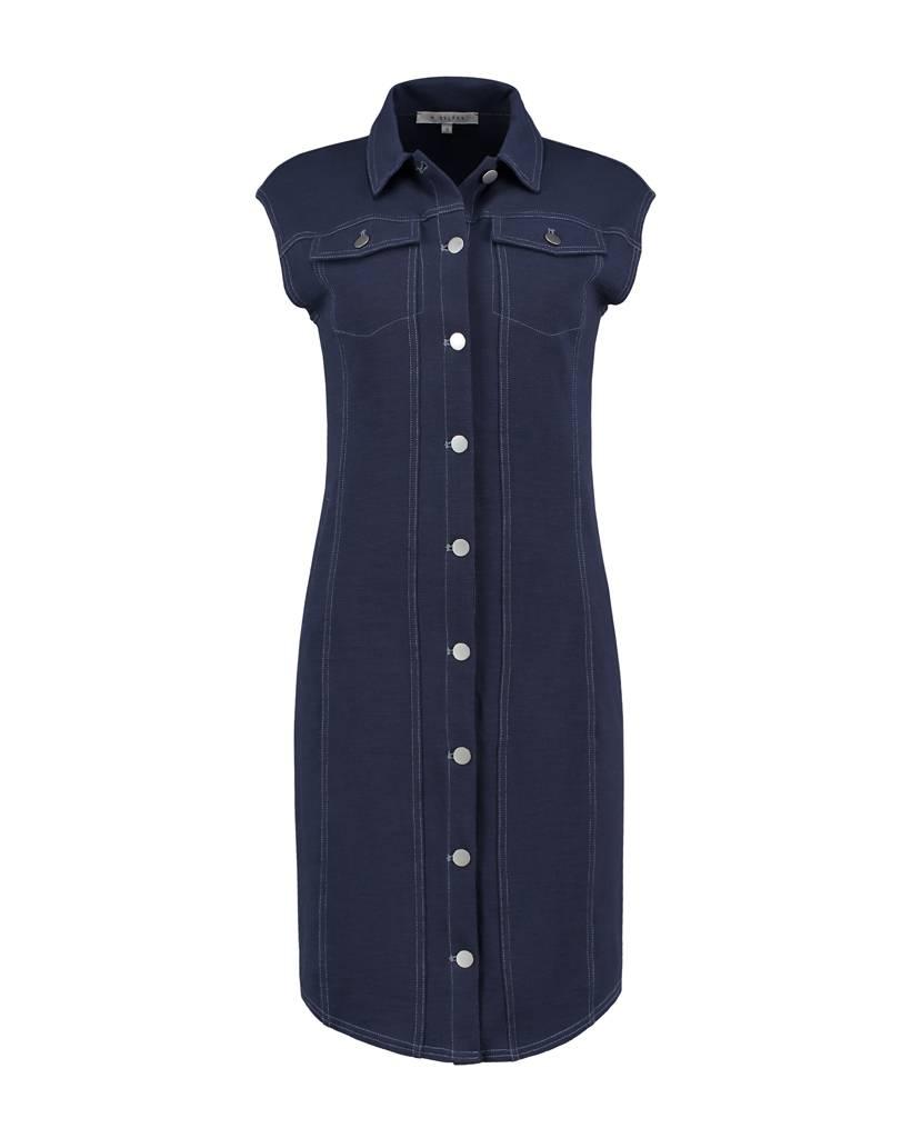 SYLVER Pique Dress Sleeveless - Donkerblauw