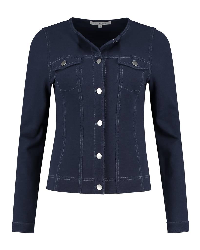SYLVER Pique Jacket - Donkerblauw