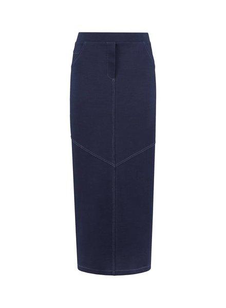 SYLVER Pique Skirt - Donkerblauw