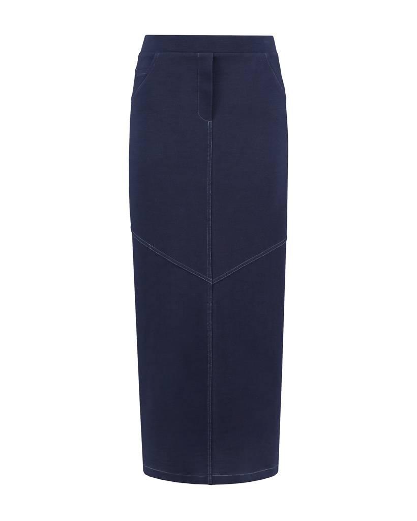 SYLVER Pique Skirt - Dark Blue